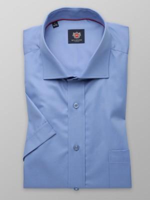 Niebieska gładka klasyczna koszula