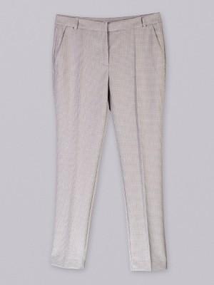 Spodnie garniturowe w różową pepitkę