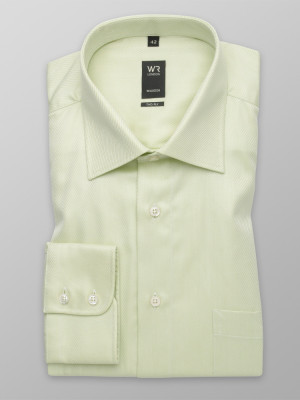 Klasyczna oliwkowa koszula w prążek