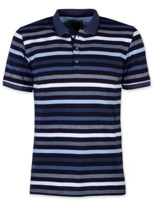 Koszulka polo w niebieskie paski