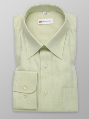 Klasyczna oliwkowa koszula w jodełkę