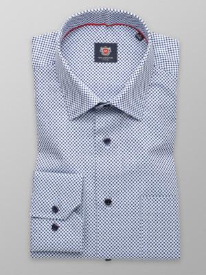 Klasyczna koszula w błękitne groszki