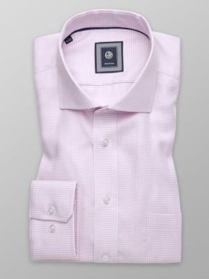 Wrzosowa klasyczna koszula w pepitkę
