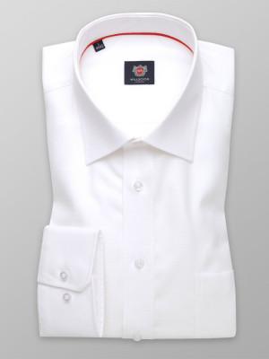 Biała taliowana koszula z klasycznym kołnierzykiem