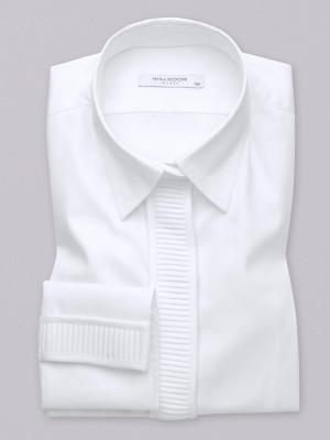 Biała bluzka z plisowaniem