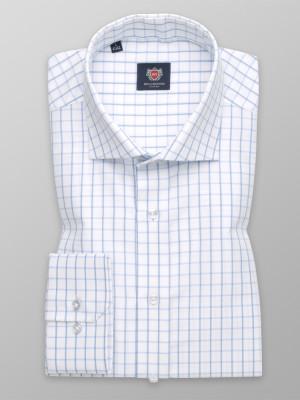 Biała klasyczna koszula w kratę