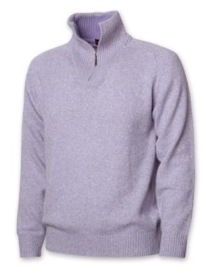 Jasnofioletowy sweter z wełny merynosów