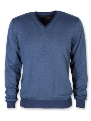 Cienki niebieski sweter męski