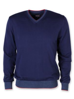 Cienki granatowy sweter męski
