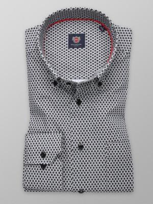 Klasyczna koszula w czarno-białą kratkę