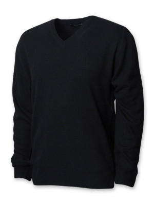 Czarny sweter męski z kaszmirem