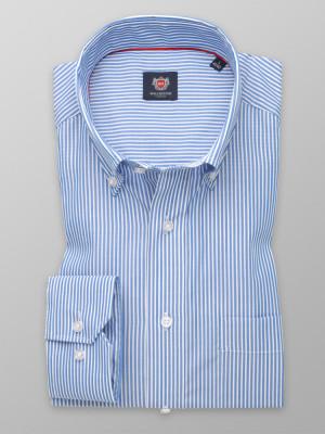 Klasyczna koszula w błękitne i białe paski