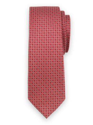 Wąski krawat w kropki