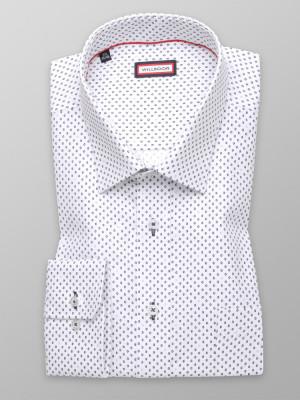 Biała klasyczna koszula w kółka