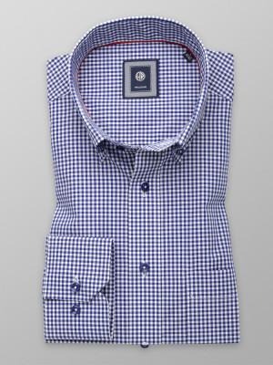 Klasyczna koszula w granatowo-białą kratkę gingham