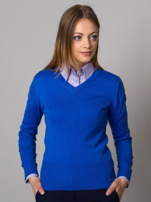 Niebieski sweter damski szpic
