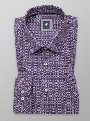 Fioletowa klasyczna koszula w orientalny wzór