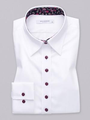 Biała bluzka z kontrastami w kwiatki