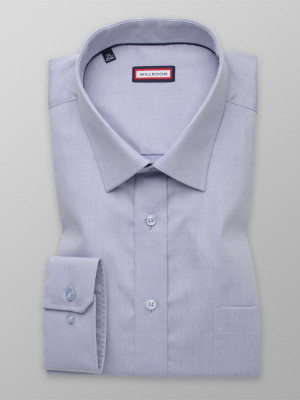 Popielata klasyczna koszula