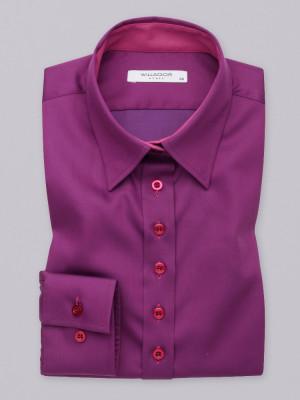 Gładka bluzka w kolorze biskupim