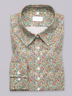 Bluzka w drobne kolorowe kwiaty