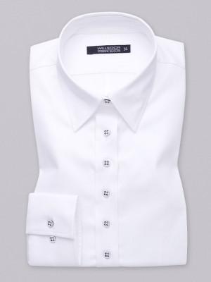 Biała bluzka ze stylowymi guzikami