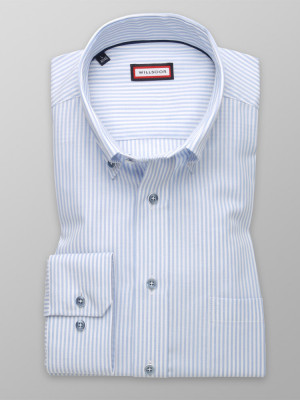 Klasyczna koszula w biało-błękitne paski