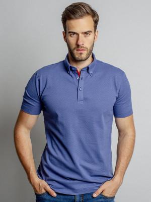Niebieska koszulka polo