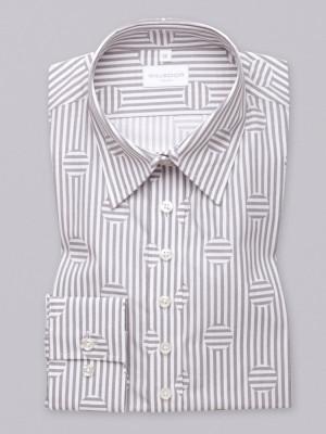 Biała bluzka w szare paski