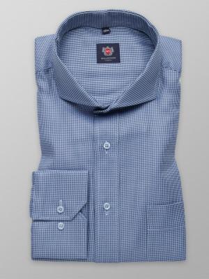 Niebieska klasyczna koszula w drobny wzór