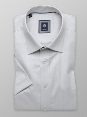 Szara taliowana koszula
