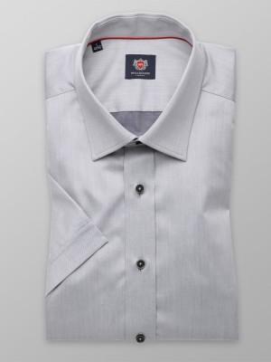 Szara gładka taliowana koszula