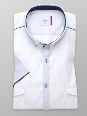 Biała klasyczna koszula z kontrastami