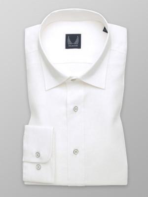 Biała taliowana koszula z lnu