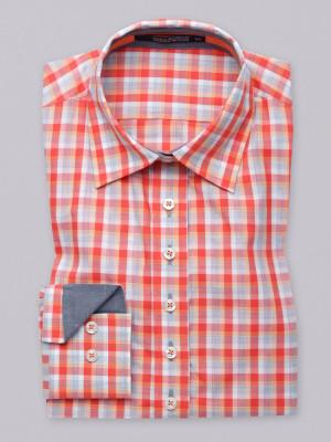Bluzka w pomarańczową kratkę