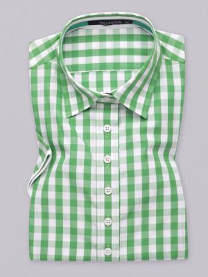 Bluzka w białą i zieloną kratkę
