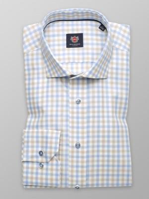Biała taliowana koszula w kratkę gingham