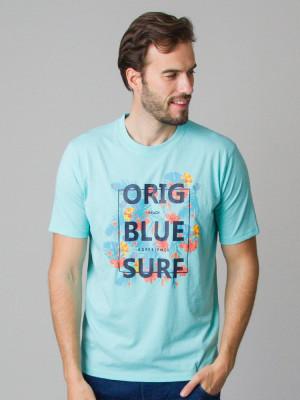 Miętowy t-shirt z nadrukiem CASA MODA