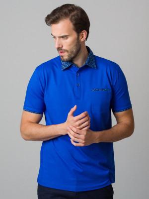 Modrakowa koszulka polo
