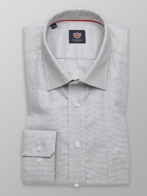 Szara klasyczna koszula w drobny wzór
