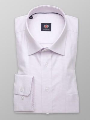 Klasyczna jasnowrzosowa koszula w drobny wzór