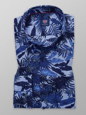 Taliowana koszula w liście
