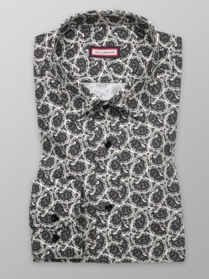 Beżowa taliowana koszula we wzory paisley