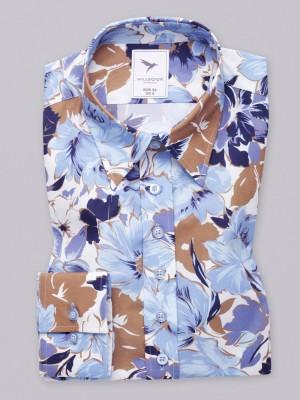 Bluzka w niebieskie kwieciste wzory