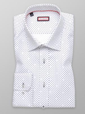 Biała taliowana koszula w kółka