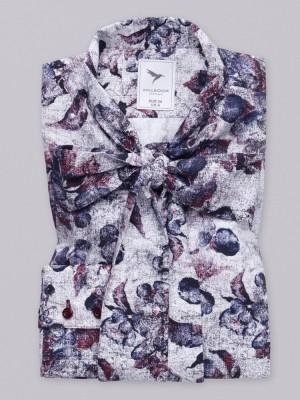 Bluzka w kwieciste wzory z kokardą