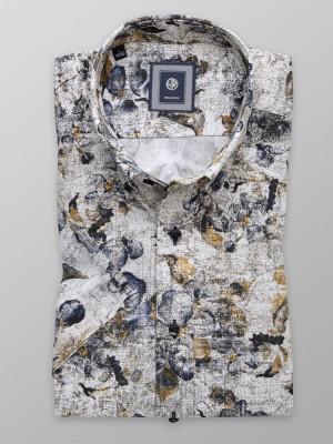 Taliowana koszula w kwieciste wzory