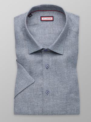 Popielata lniana klasyczna koszula