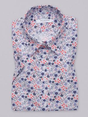 Bluzka z krótkim rękawem w kwiaty