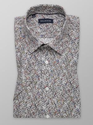 Brązowa taliowana koszula
